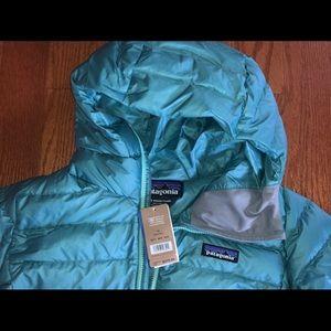 Patagonia Womens Down Sweater Hoody Beryl Green NWT